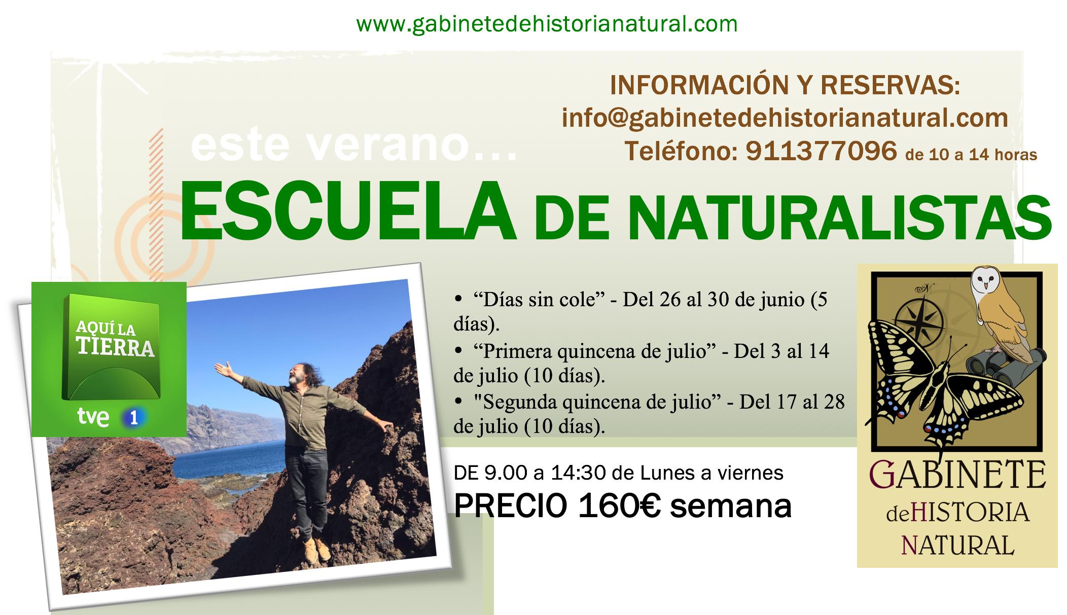 Escuela Naturalistas Flyer
