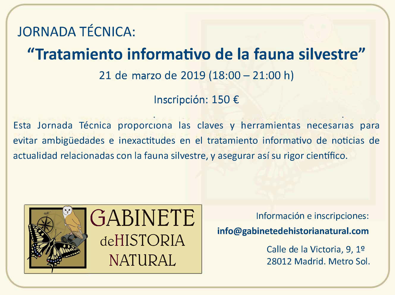 Tratamiento informativo de la fauna silvestre