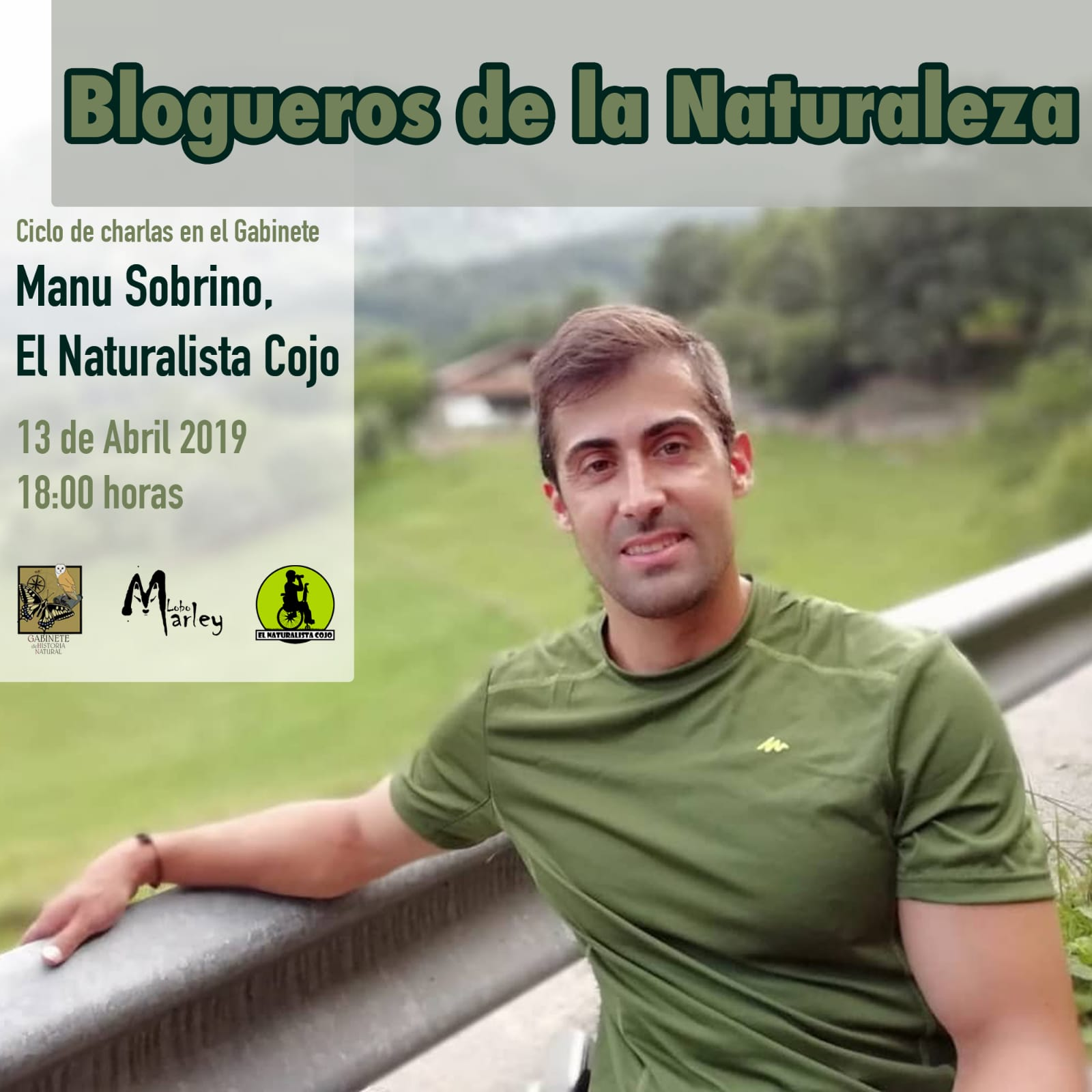Manu Sobrino, el naturalista cojo